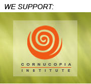 We Support  The Cornucopia Institute