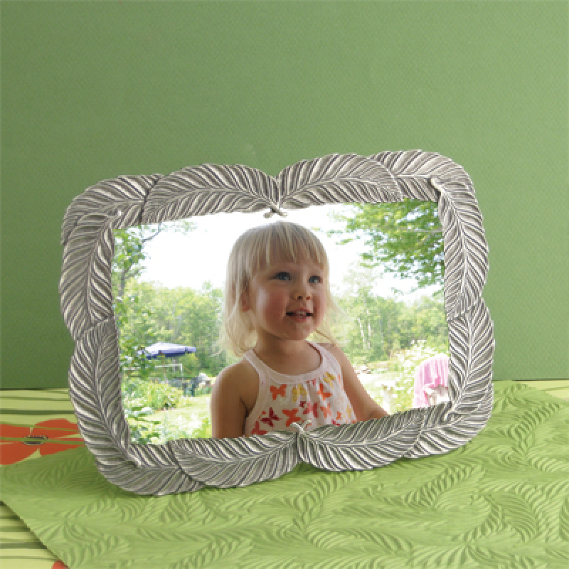 Danforth Pewter Feathers Picture Frame 4 x 6 Made in USA