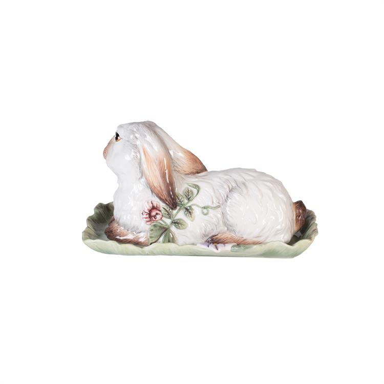 Fitz and Floyd FATTORIA RABBIT BUTTER DISH 2 pc Pictorial Box NEW Spring 2017