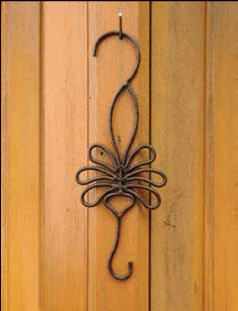 BIRDBRAIN DECORATIVE GARDEN S-HOOK LEAF