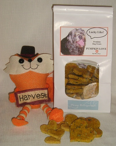 Lucky Like PUMPKIN LOVE Premium Dog Biscuits Organic 10 oz