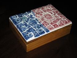 Fit Of Pique Genuine Pique Assiette Playing Cards Hinged Oak Box