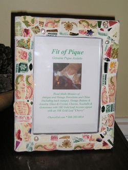 Fit Of Pique Genuine Pique Assiette Windsor Festoon Photo Frame 5 x 7