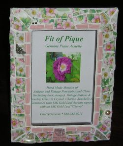 Fit Of Pique Genuine Pique Assiette Photo Frame 4 x 6 Mayfair