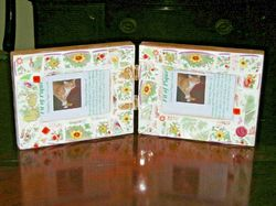 Tiffany Double Frame Fit Of Pique Genuine Pique Assiette Mosaics Two x 4 x 6 USA