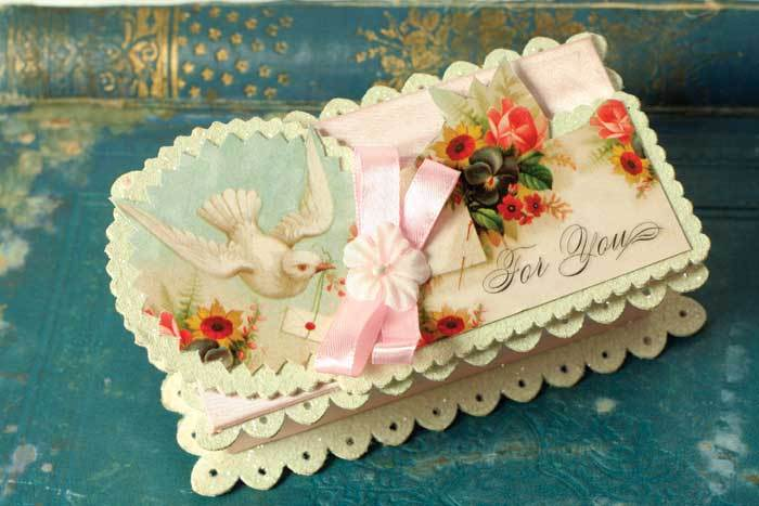 """FOR YOU"" Victorian Reproduction Gift Box For Small Treasures"