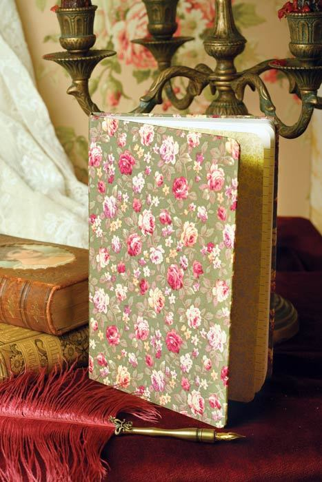 Rose Chintz Fabric Covered Journal Victorial Trading Co 100 pgs Beautiful