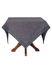 April Cornell LUXURIOUS LINEN JACQUARD Tablecloth Charcoal