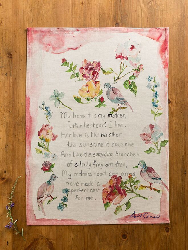 April Cornell MOTHERS POEM TEA TOWEL
