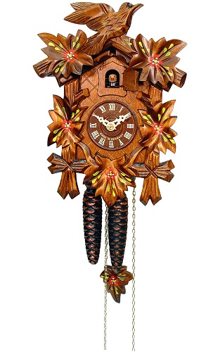 Engstler Black Forest Cuckoo Clock Carved Weight-driven 522-6