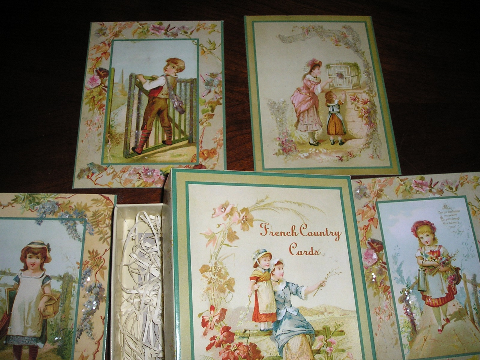 Bethany Lowe French Country Cards Bruce Elsass Vintage Collection Set of 8 Boxed