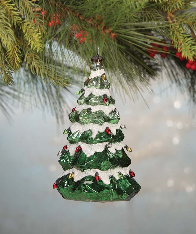 Bethany Lowe O'CHRISTMAS TREE Glass Christmas Ornament