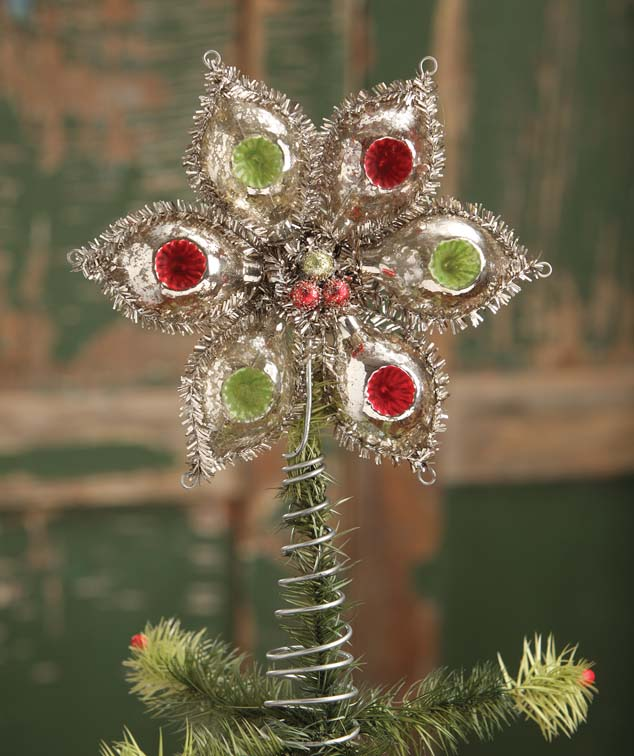 Bethany Lowe GLASS ONION TREE TOPPER Christmas Ornament