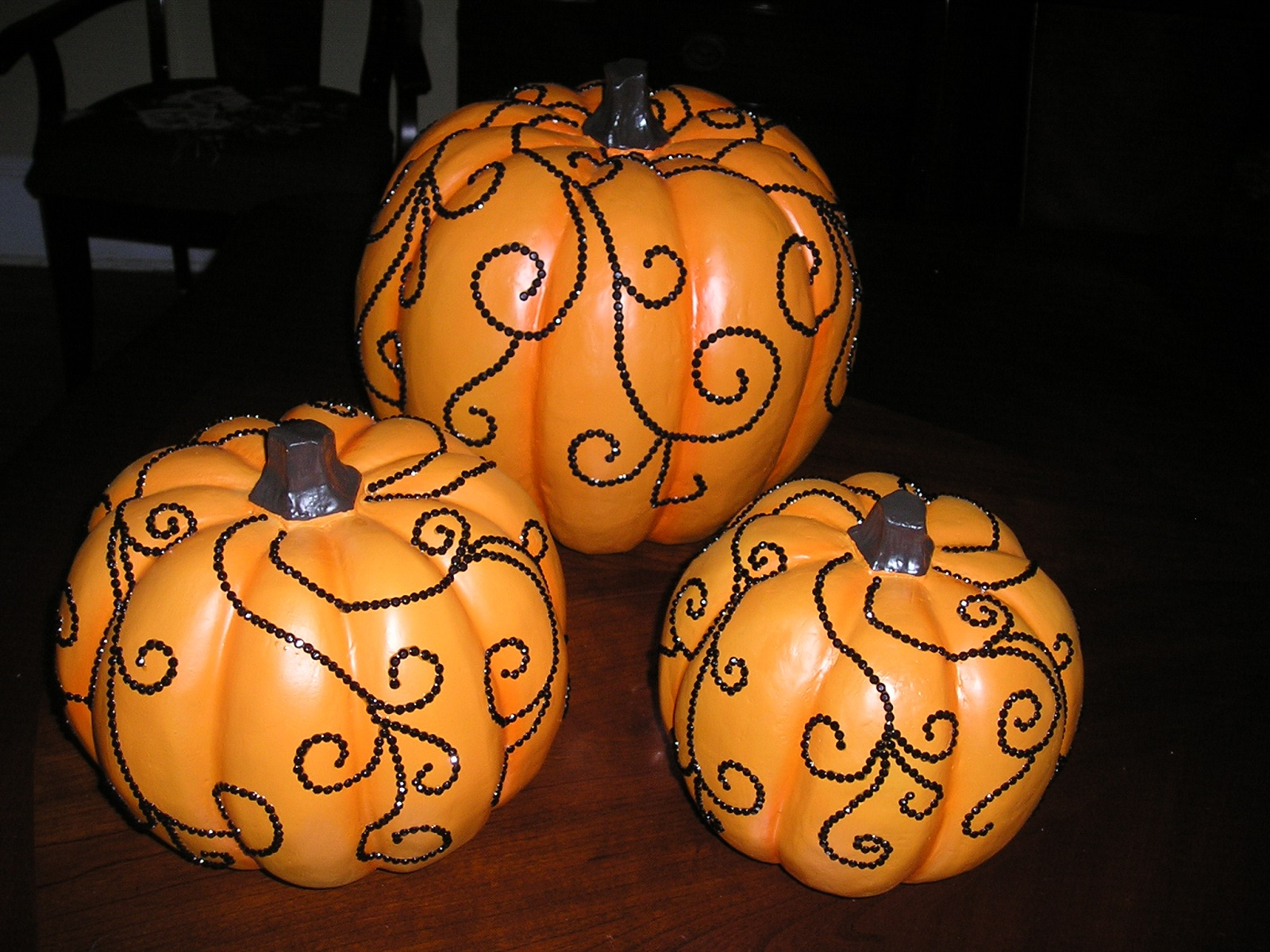 Bethany Lowe SEQUINED PUMPKIN Choice of 3 Graduated Sizes or Set