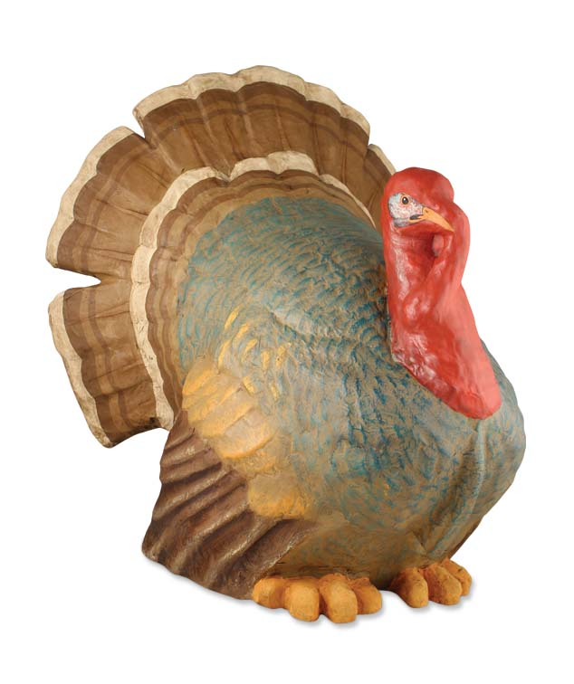 Bethany Lowe TURKEY Very Large Thanksgiving Papier Mache Figure