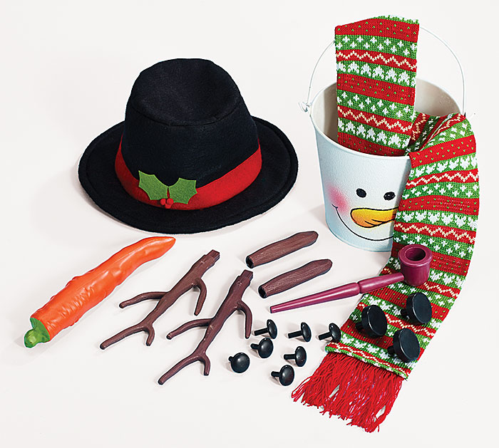 SNOWMAN KIT 19 PIECE GIFT SET Everything but the snow!
