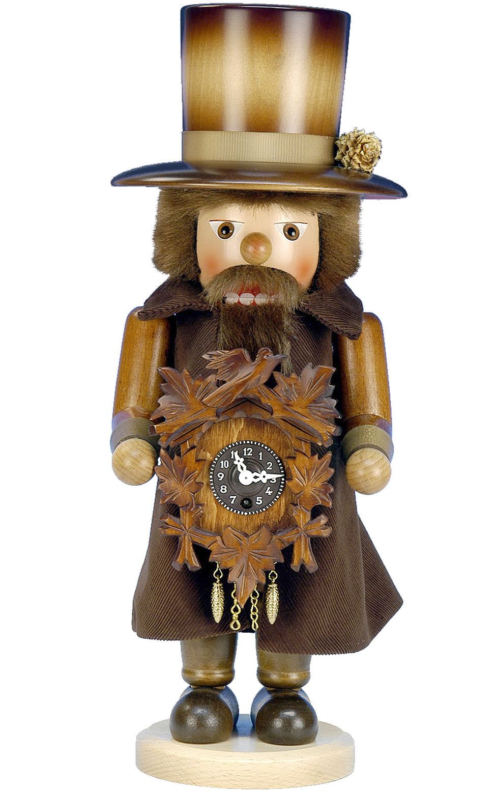 Christian Ulbricht Nutcracker CLOCKMAKER with Keywound Clock #763 Germany