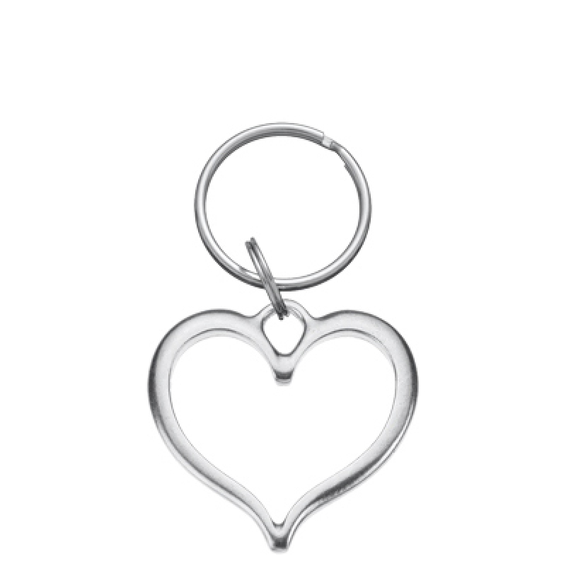 OPEN HEART SWEETHEART KEYRING Solid Pewter Danforth Pewter Made in USA