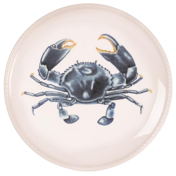 Fitz and Floyd CAPE CORAL CRAB Porcelain Accent Plate 8.5""