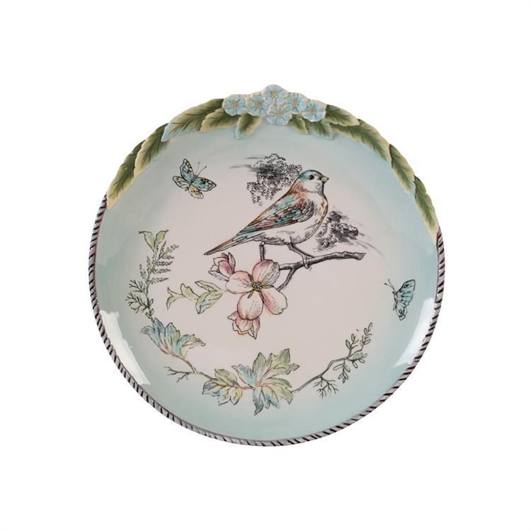 Fitz and Floyd ENGLISH GARDEN ACCENT PLATE Bird