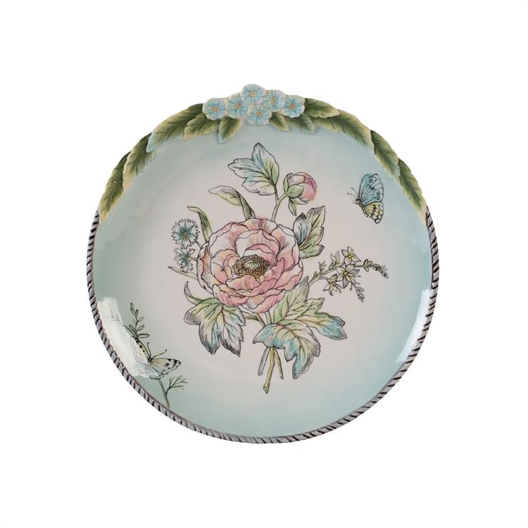 Fitz and Floyd ENGLISH GARDEN ACCENT PLATE Bloom