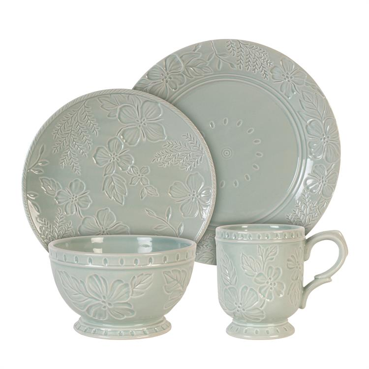 Fitz and Floyd ENGLISH GARDEN 4 Pc Place Setting
