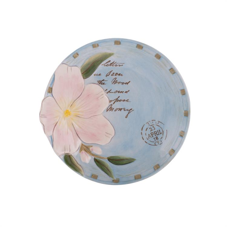 Fitz and Floyd TOULOUSE APPETIZER PLATE Blue