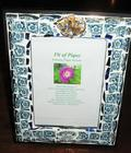 Fit Of Pique Genuine Pique Assiette Photo Frame 5 x 7 Flow Blue Jeweled