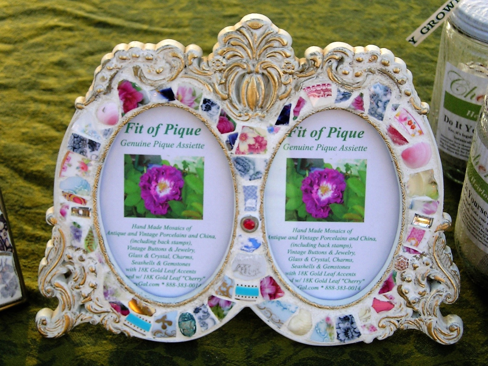 Fit Of Pique Genuine Pique Assiette Photo Frame Double Oval