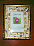 Hand Painted Limoges Violets Fit Of Pique Mosaic Frame 4 x 6 USA