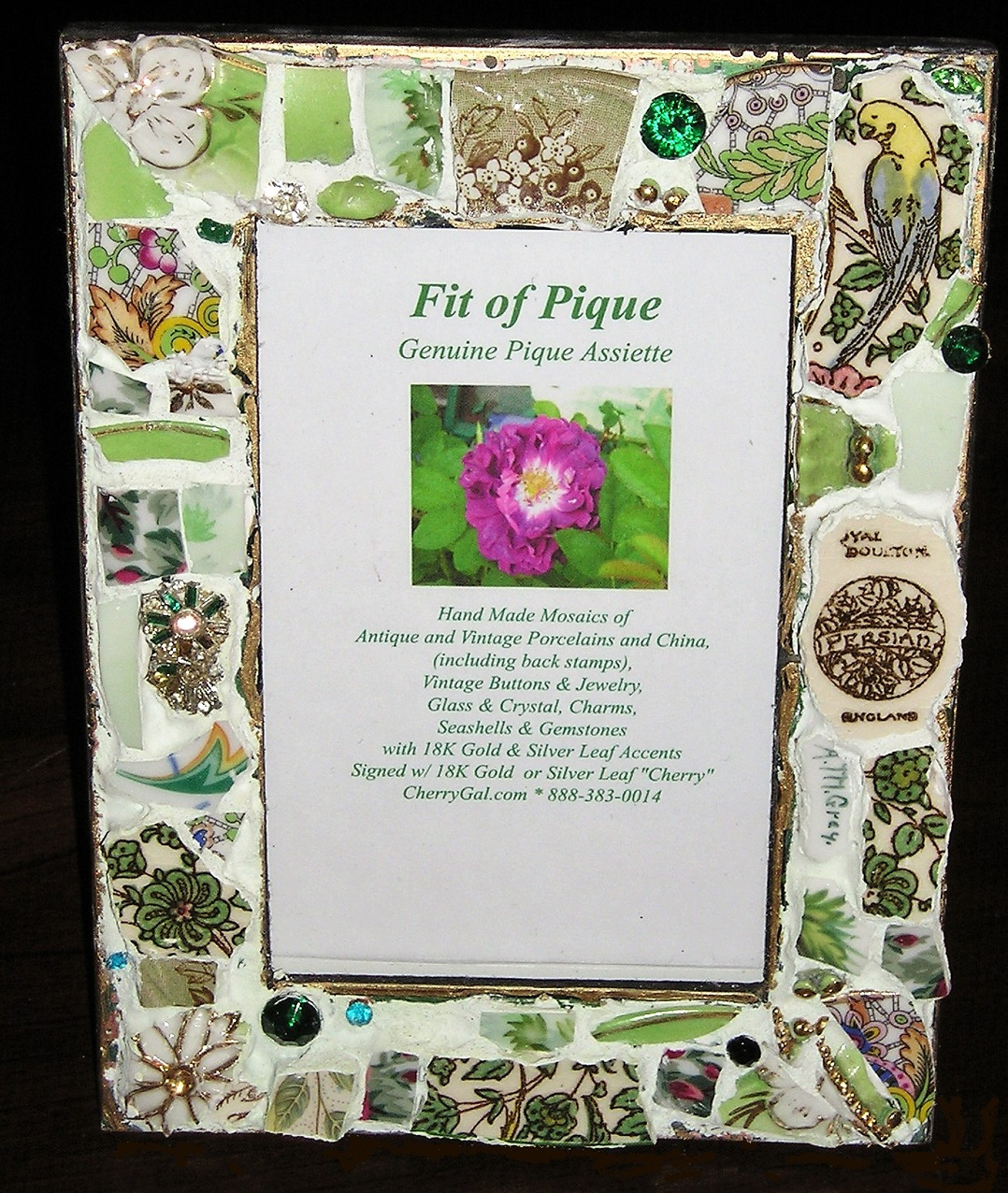 Fit Of Pique Genuine Pique Assiette Photo Frame 4 x 6 Persian Green