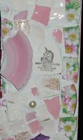 Fit Of Pique Genuine Pique Assiette Mirror 10 x 10 Pink Unicorn Mayfair