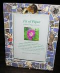 Fit Of Pique Genuine Pique Assiette Photo Frame 5 x 7 Six Sweet Kitties Purple