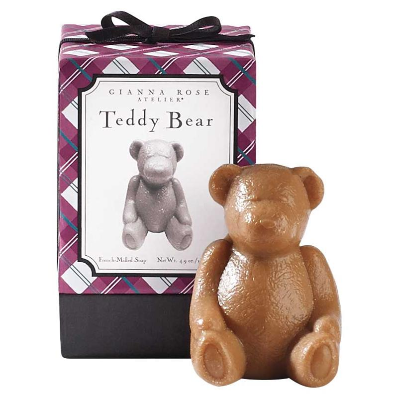 Gianna Rose Atelier TEDDY BEAR SOAP Adorable Light Floral Scent Gift Boxed