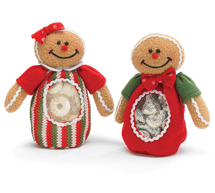 GINGERBREAD BOY & GIRL Candy Bags Set / 2 Top of Stocking Stuffer