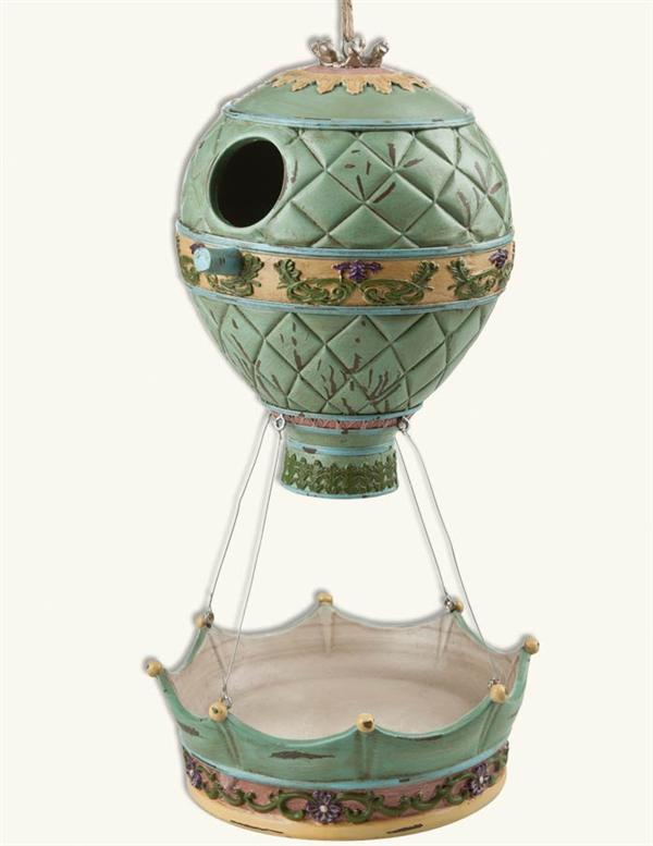 Hot Air Balloon Bird House Bird Feeder Combo