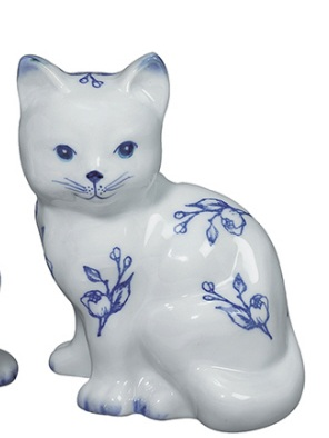 KITTEN SITTIN Porcelain Still Bank Andrea by Sadek 20375S