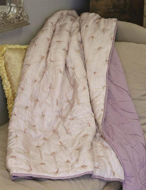 Knotted Silk Blanket Throw 50 x 60