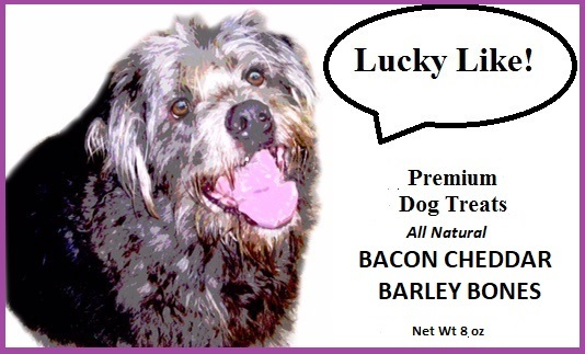Lucky Like Bacon Cheddar Barley Bones Premium Dog Biscuits All Natural 8 oz