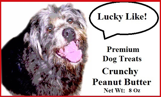 Lucky Like Crunchy Peanut Butter Premium Dog Biscuits Organic 8 oz