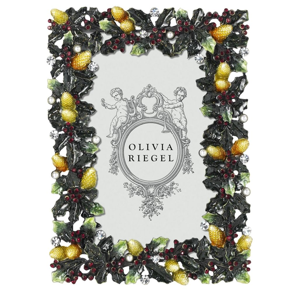 "Olivia Riegel Garland Luxury Picture Frame 4"" x 6"" Holiday Motif"