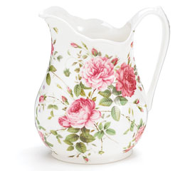 SADDLEBROOKE Porcelain Roses Large Pitcher Gift Boxed