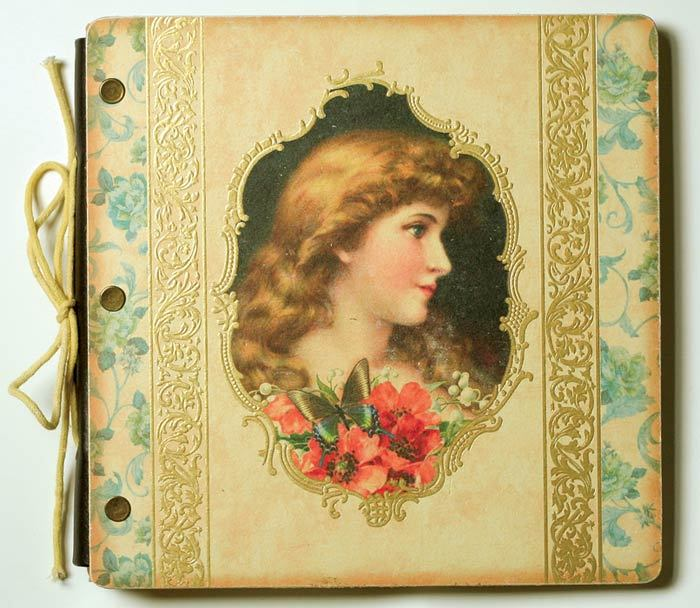 "Young Victoria Decorated Photo Album Holds 96 4""x6"" Pix"